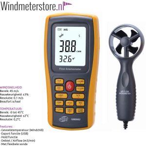 42003 Benetec GM8902 windmeter met export functie