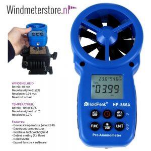 holdpeak hp-866a windmeter incl debiet en export functie - 25