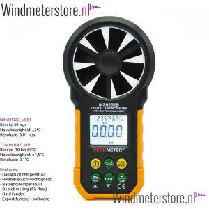 peakmeter ms6252b windmeter incl. debiet meting en export functie - windmeterstore.nl - 3
